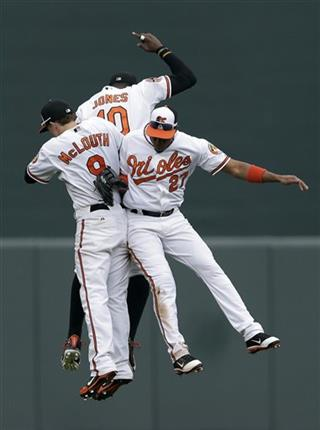 Nate McLouth, Adam Jones, Endy Chavez