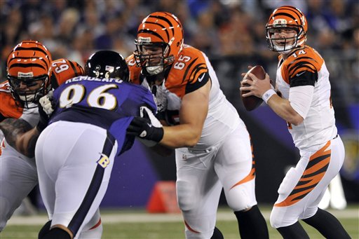Maake Kemoeatu, Andy Dalton, Jeff Faine, Clint Boling