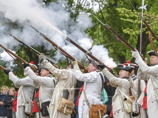 Cannon thunder and musket shots