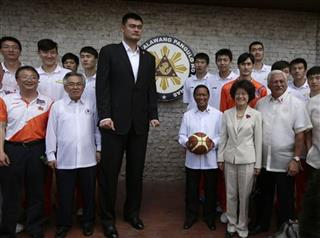 Yao Ming, Jejomar Binay, Ricardo Garcia, Ma Keqing