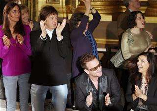 Nancy Shevell, Sir Paul McCartney, Bono,  Ali Hewson