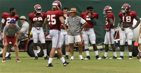 Alabama Football Fall Preseason Practice #14