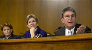 Joe Manchin,  Elizabeth Warren,Heidi Heitkamp