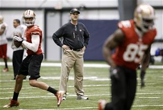Jim Harbaugh, Colin Kaepernick, Vernon Davis