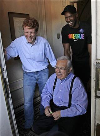 Jason Collins, Tom Menino, Joe Kennedy