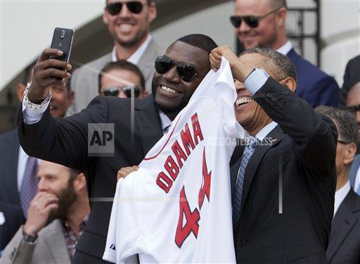 Obama Red Sox Baseball