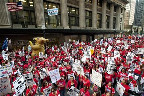 APTOPIX Chicago Schools-Strike