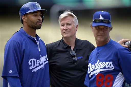 Mark Walter, Matt Kemp, Don Mattingly