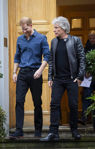 Prince Harry meets with Jon Bon Jovi - 2/28/20