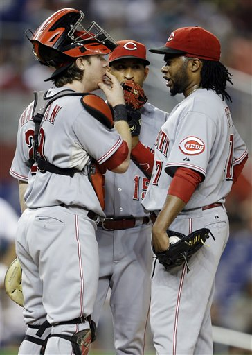 Johnny Cueto, Ryan Hanigan, Wilson Valdez