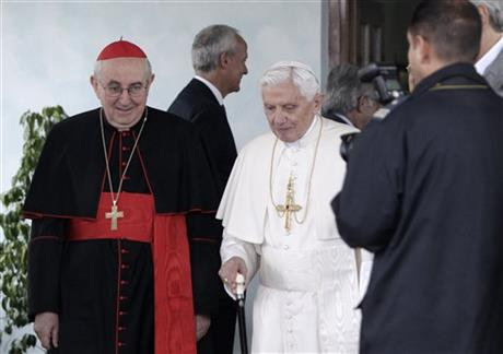 Agostino Vallini Pope Benedict XVI
