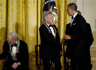 Barack Obama, Dustin Hoffman, David Lettermant