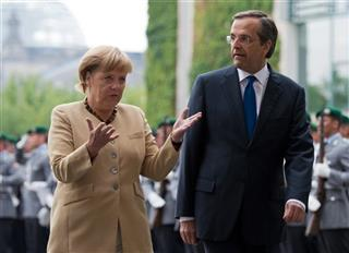 Angela Merkel, Antonis Samaras