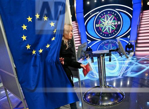 """Election booth for European elections in the studio of """"Who Wants To Be A Millionaire?"""""""
