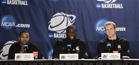 Keith Appling, Draymond Green, Austin Thornton