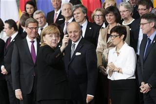 Angela Merkel, Francois Hollande, Guido Westerwelle, Laurent Fabius