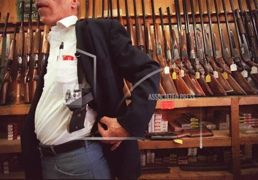 Associated Press Domestic News Kansas United States State legislatures CONCEALED GUNS