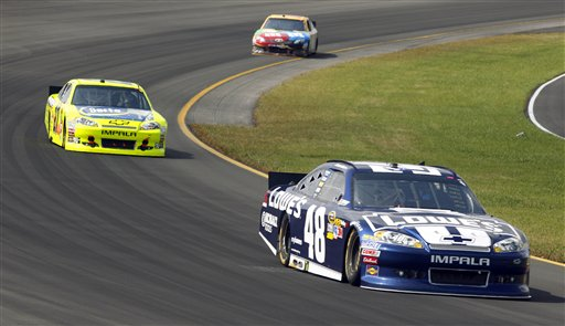 Jimmie Johnson, Paul Menard, Kyle Busch