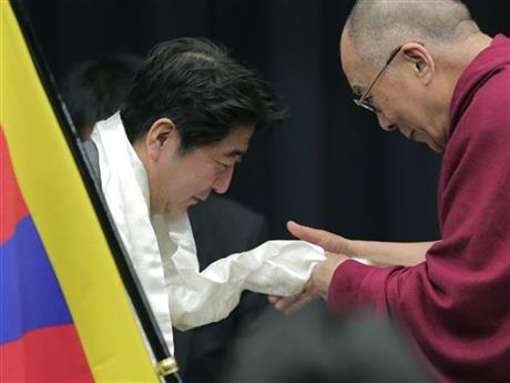 Japan Dalai Lama, Shinzo Abe