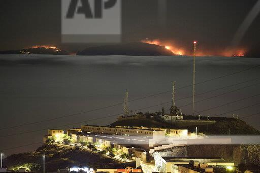 APTOPIX Spain Canary Wildfires