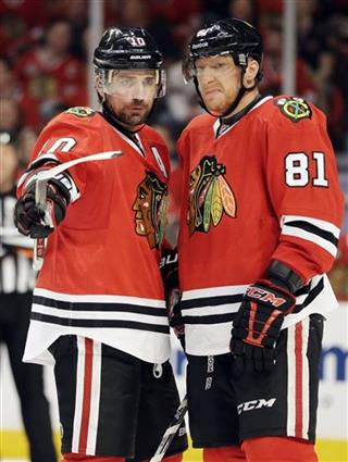 Marian Hossa, Patrick Sharp
