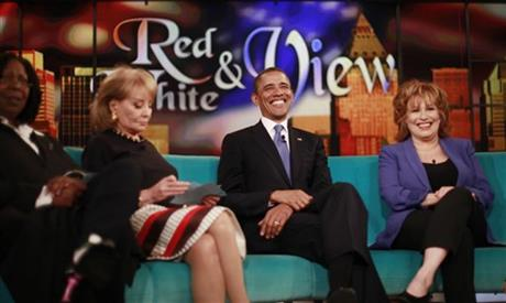 Barack Obama, Whoopi Goldberg, Barabara Walters, Joy Behar