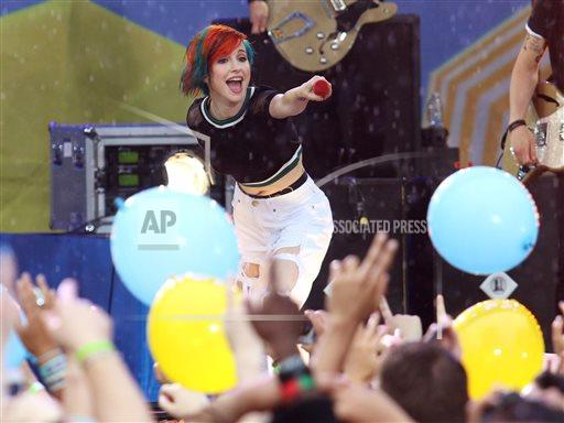 APTOPIX Paramore Good Morning America Performance