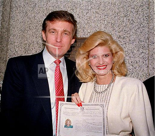 Associated Press Domestic News United States Entertainment DONALD TRUMP IVANA