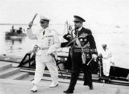 Watchf AP I   LBY APHSL41960 Libya General Goering and Air Marshal Balbo
