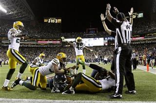 APTOPIX Packers Seahawks Football