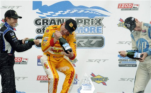Ryan Hunter-Reay, Simon Pagenaud, Ryan Briscoe