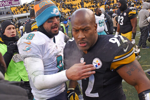 Matt Moore, James Harrison