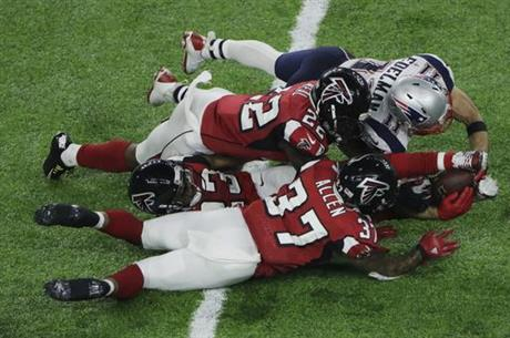 APTOPIX Patriots Falcons Super Bowl Football