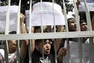 Indonesia Refugees Protest