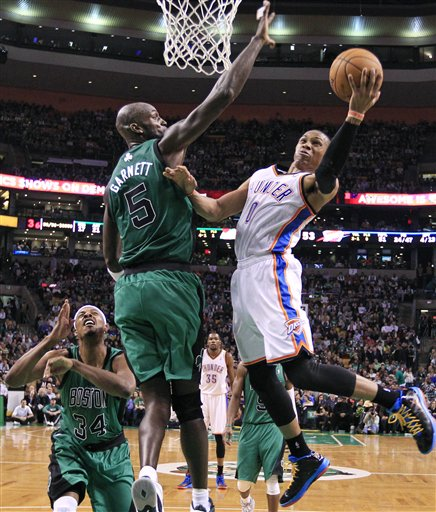 Russell Westbrook, Kevin Garnett, Paul Pierce