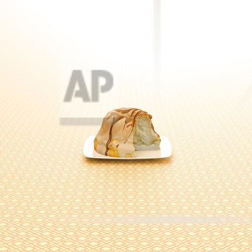 3D rendering, Ring cake on patterned background