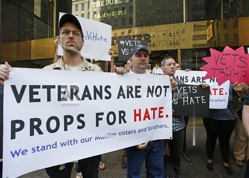 Trump Veterans Protest