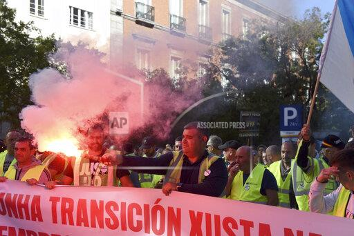 Protest Against As Pontes Power Plant Closure in Madrid, Spain - 16 Oct 2019