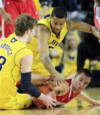 Evan Smotrycz, Trey Burke, Aaron Craft
