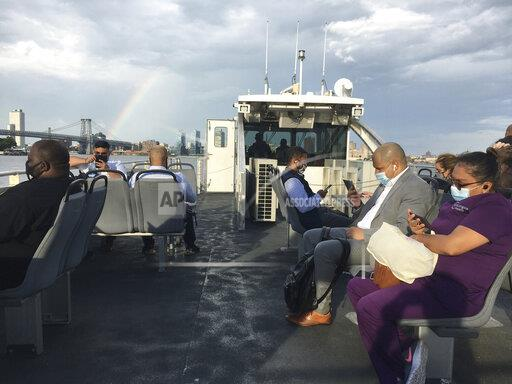 Ferry Riders continue to wear masks - 7/1/20