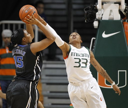 basketball game in Coral Gables, Fla., Thursday, Feb. 28, 2013. (AP