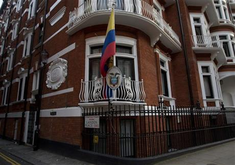 Britain Ecuador Assange