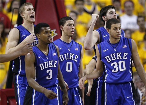 Mason Plumlee, Tyler Thornton, Austin Rivers, Ryan Kelly, Seth Curry