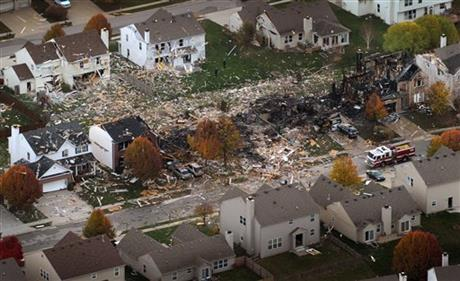 APTOPIX Indianapolis House Explosion