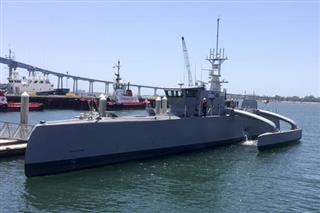 APTOPIX Military Unmanned Ship