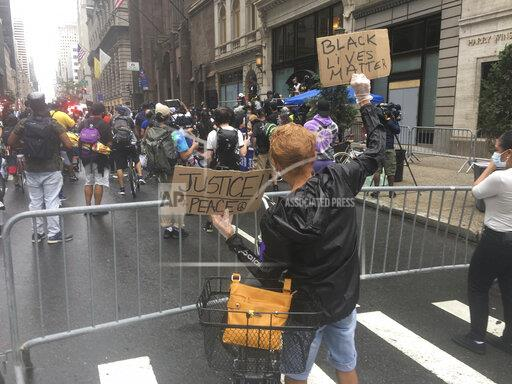 """""""Get Your Knee Off Our Necks"""" March at Trump Tower - 7/31/20"""
