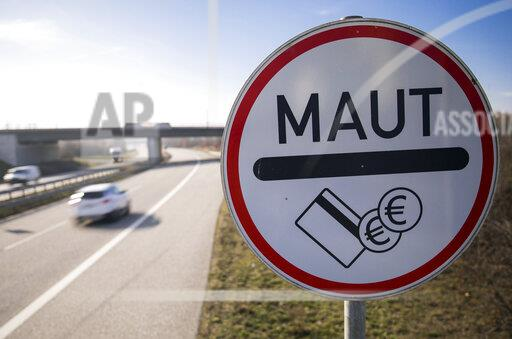Traffic sign for tolls