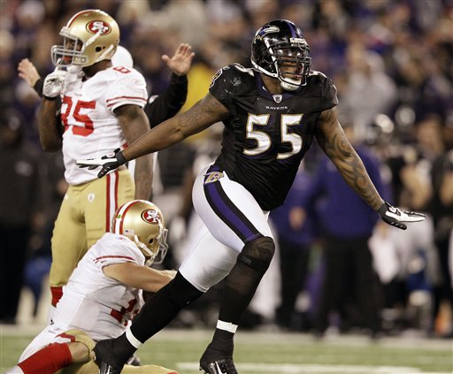 Terrell Suggs, Alex Smith