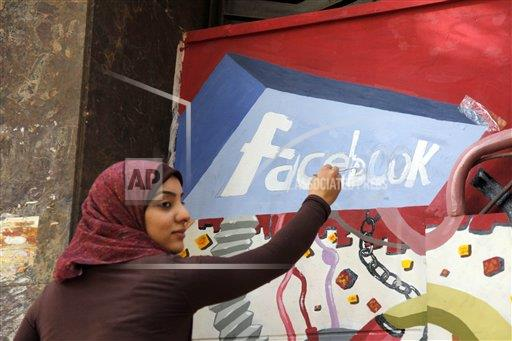 Mideast Egypt Facebook