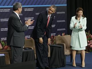 Barack Obama, Laura Chinchilla, Arturo Condo